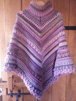 Secret Paths and Hidden Daisies Poncho