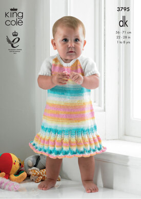 Smock Top and Dress in King Cole DK - 3795