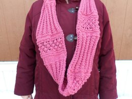 Ribbed Raspberries Infinity Scarf