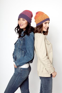 Slouchy Crochet Beanie in Caron Cakes - Downloadable PDF
