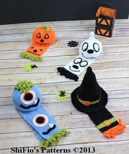 226-Halloween Hats & Scarves Crochet Pattern #226