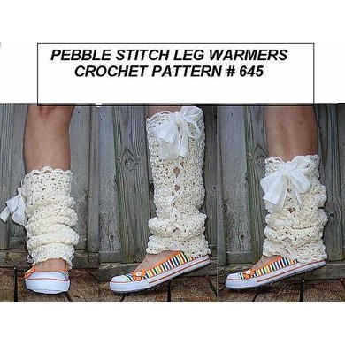645, PEBBLE STITCH LACED UP LEGWARMERS, ANY SIZE
