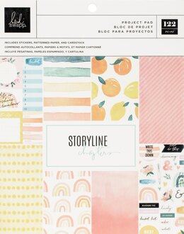 """American Crafts Heidi Swapp Storyline Chapters Project Pad 7.5""""X9.5"""" - The Journaler, 93 Pieces"""