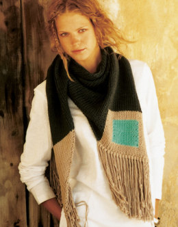 Halona Scarf in Wool and the Gang Shiny Happy Cotton