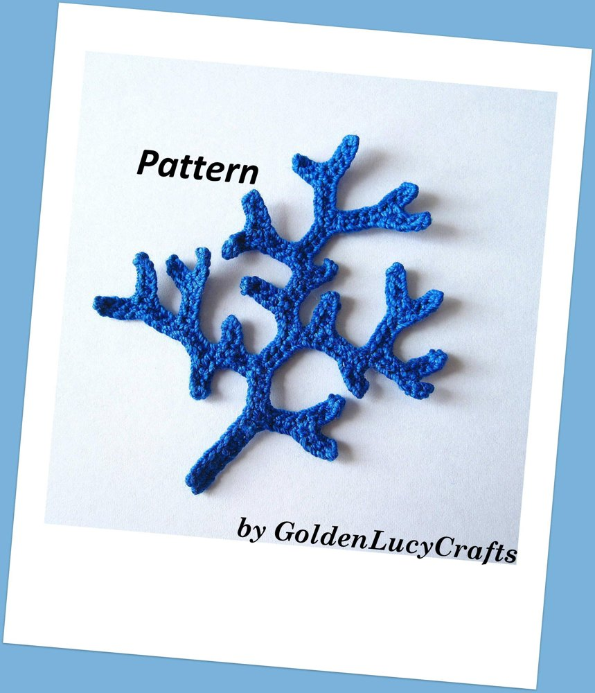 Coral Branch Crochet Pattern Crochet Pattern By Goldenlucycrafts