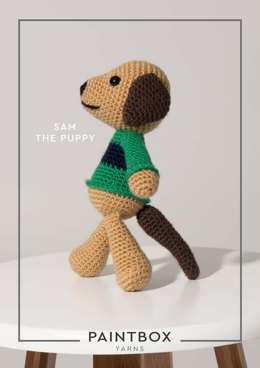 """Sam the Puppy"" - Crochet Pattern For Toys in Paintbox Yarns Simply DK - 008"