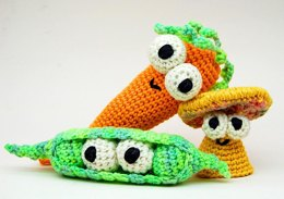 Crochet Don't Eat Your Veggies Amigurumi Toy Pattern