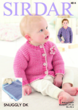 Cardigans and Blanket in Sirdar Snuggly DK - 4814 - Downloadable PDF