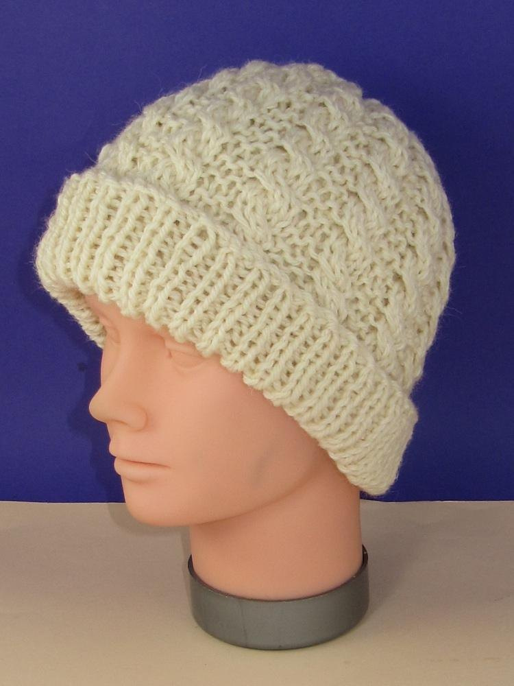 Easy Cable Chunky Unisex Beanie Hat Knitting pattern by ...