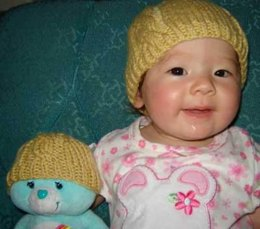#57 Cable Baby Beanie