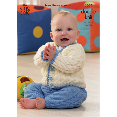 Cardigan and Pants in King Cole DK - 3503