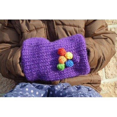 Rainbow Bobble Muff