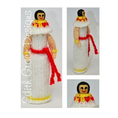 Ancient Egyptian Peg Doll Knitting Pattern