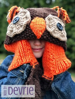 Hooded Owl Scarf and Blanket