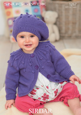 Cardigan and Beret in Sirdar Snuggly DK - 1267
