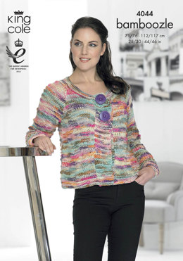 Cardigan and Sweater in King Cole Bamboozle - 4044