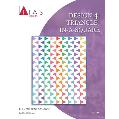 Riley Blake Triangle-In-A-Square Quilt 4 - Downloadable PDF