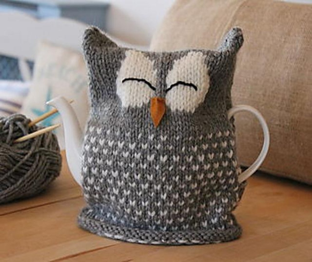 Sleeping Owl Tea Cosy Knitting Pattern By Julie Richards Knitting