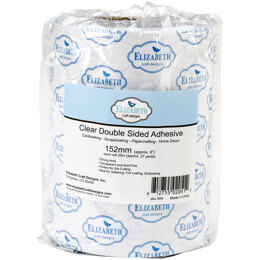 "Elizabeth Craft Designs Elizabeth Craft Clear Double-Sided Adhesive Tape - 6""X27yd"
