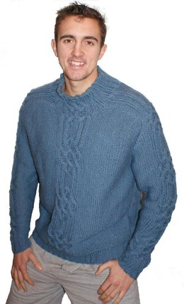 Mans Cable Sweater
