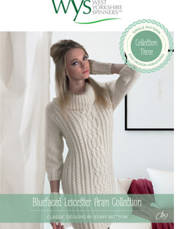 Dresses, Hat, Scarf and Wristwarmers in West Yorkshire Spinners Bluefaced Leicester Naturals Aran - Downloadable PDF