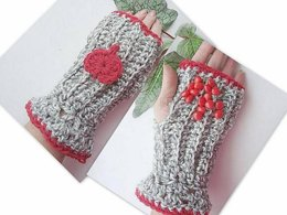 343, VALENTINE FINGERLESS GLOVES