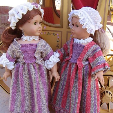 Tea Time Colonial Dress for American Girl