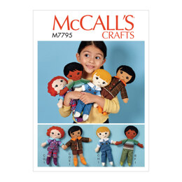 McCall's Doll Clothes and Shoes M7795 - Paper Pattern All Sizes In One Envelope