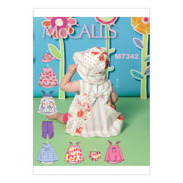 McCall's Infants' Back-Bow Dresses, Panties, Leggings and Bucket Hat M7342 - Sewing Pattern