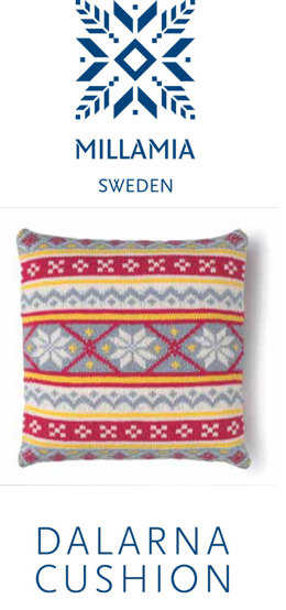 Dalarna Cushion in MillaMia Naturally Soft Merino - Downloadable PDF