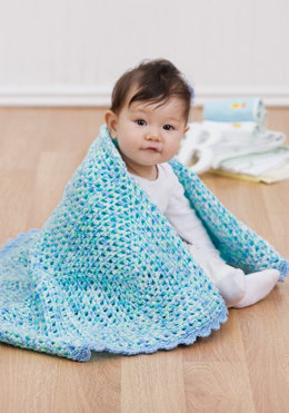 Baby Lullaby Afghan in Red Heart Econo Prints & Multis - LW1591 - Downloadable PDF
