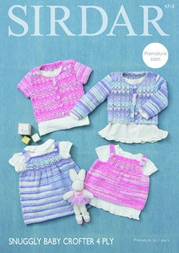 Dress and Angel Top in Sirdar Snuggly Baby Crofter 4 Ply - 4713 - Downloadable PDF