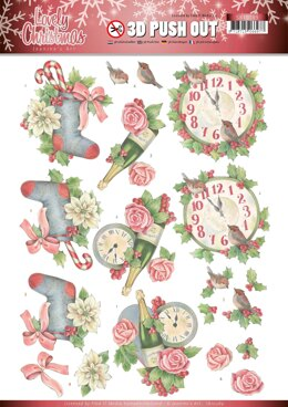Find It Trading Jeanine's Art Punchout Sheet - Christmas Time, Lovely Christmas