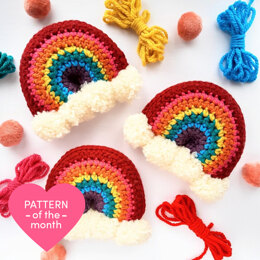 Brighten Your Day Crochet Rainbow Stuffie