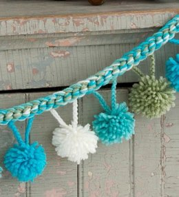 Pompom Garland in Red Heart Super Saver Economy Solids - LW3160