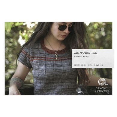 Grimoire Tee by Kiyomi Burgin : Top Knitting Pattern for Women in The Yarn Collective DK | Light Worsted Yarn