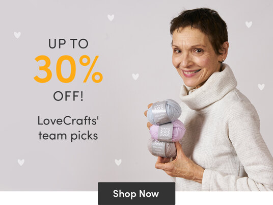 Up to 30 percent off LoveCrafts' team picks