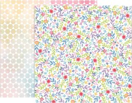 """American Crafts Paige Evans Bloom Street Double-Sided Cardstock 12""""X12"""" 25/Pkg - #23"""