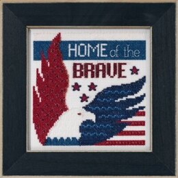 Mill Hill Patriotic Quartet - Home of the Brave - 5inx5in