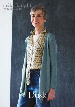 Dusk Cardigan in Erika Knight Studio Linen - Downloadable PDF