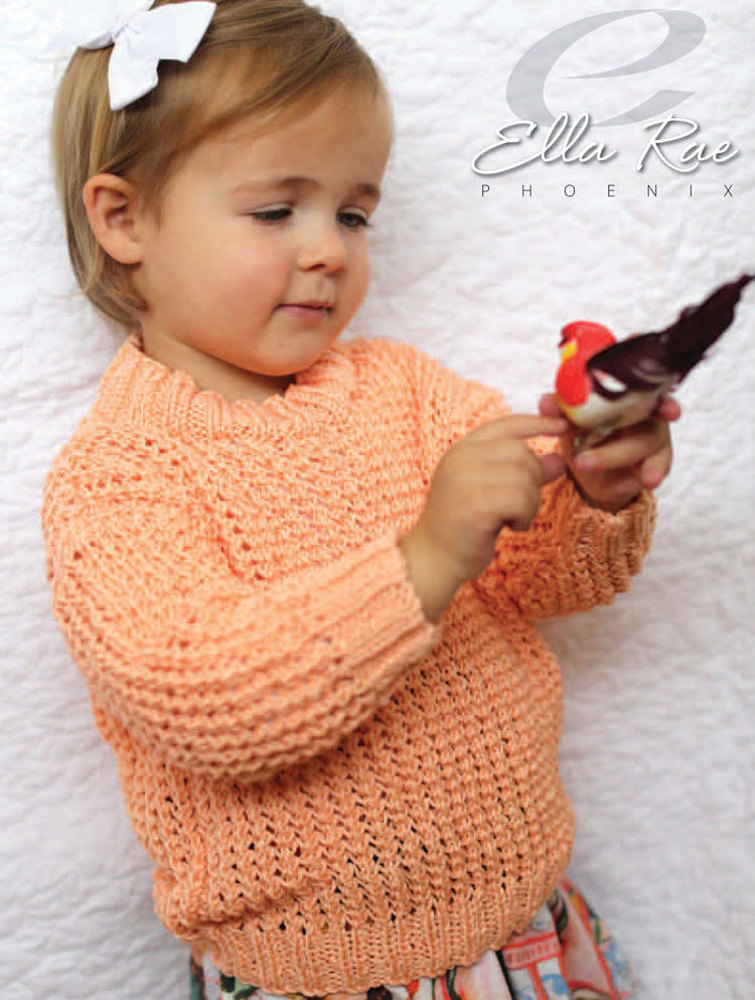 blossom sweater in ella rae phoenix dk er20 01 downloadable pdf. Black Bedroom Furniture Sets. Home Design Ideas