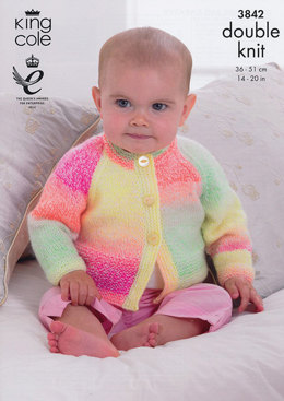 Cardigans and Sweater in King Cole Melody DK - 3842