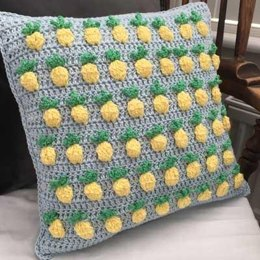 Pineapple Crush Crochet Cushion