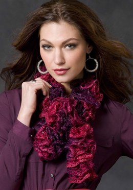 Saucy Swirls Scarf in Red Heart Boutique Sashay - LW2910