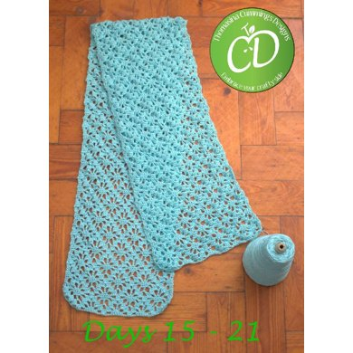 Summer Scarf With Lace Pattern Crochet Pattern By Thomasinac