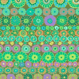 Kaffe Fassett Row Flowers Cut to Length - Green