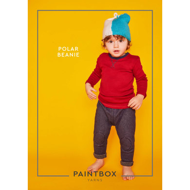 """""""Polar Beanie"""" : Beanie Knitting Pattern for Babies in Paintbox Yarns DK 