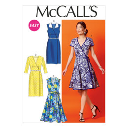 McCall's Misses' Dresses and Belt M6959 - Sewing Pattern