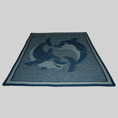 Dolphins Illusion Baby Blanket