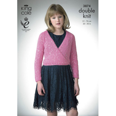 Ballet Top and V Neck Sweater in King Cole Galaxy and Merino Blend DK - 3874